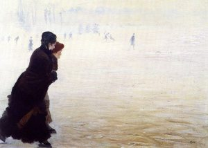 Nittis, Giuseppe de ~ The Skating Lesson