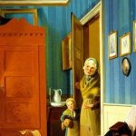 Bendz, Vilhelm-Ferdinand ~ The Visit Of The Beggar And Her Child (En Tiggerkone Med Sit Barn)