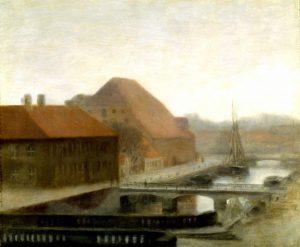 Hammershoi, Vilhelm ~ View of Frederiksholms Canal