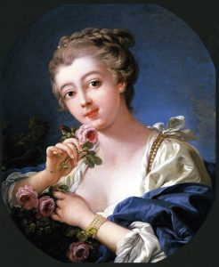 Boucher, François ~ Young Woman Holding a Rose