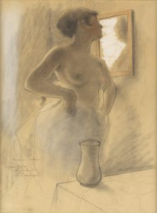 Rassenfosse, Armand ~ Sketch for Young woman at her toilette