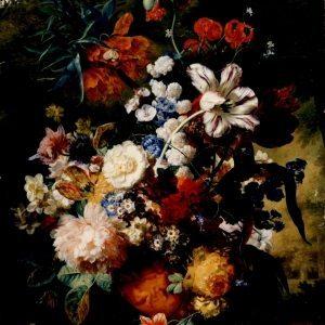 Huysum, Jan Van ~ Flowers in a Terra Cotta Vase