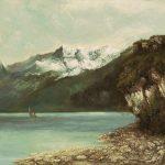 Courbet, Gustave ~ Le Lac Léman et les Dents du Midi
