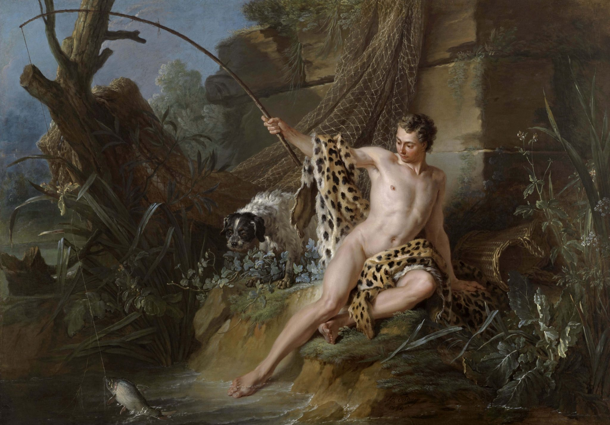 Jean Baptiste Oudry, The Fisherman and the Little Fish