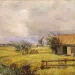 Cazin, Jean-Charles ~ Les Moulins (A Summer Storm), circa 1880