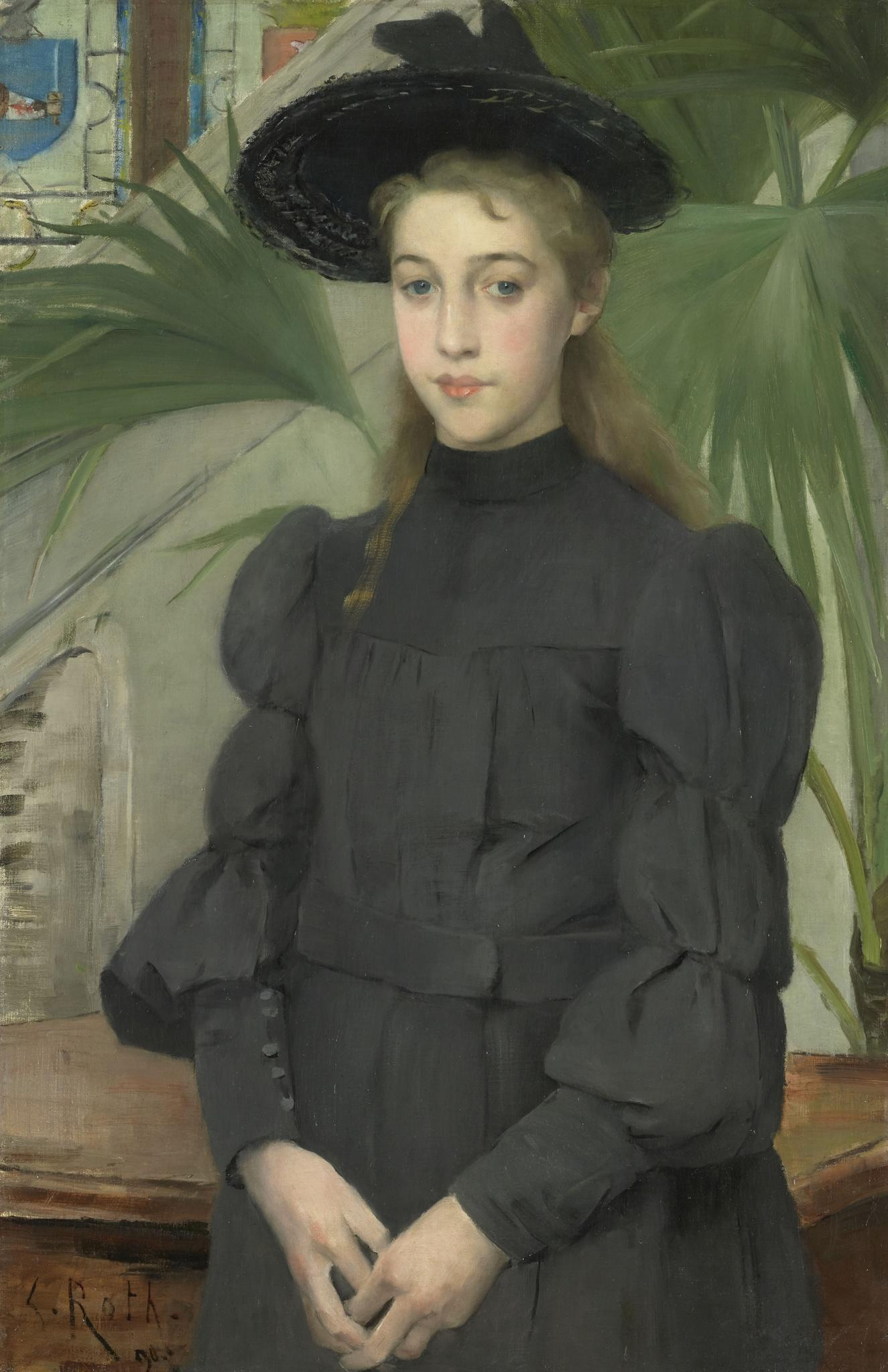 young-girl-in-a-black-hat