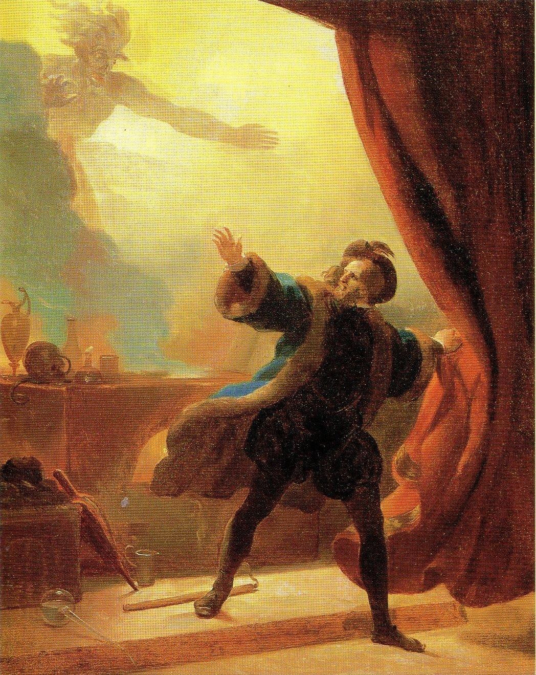 Fragonard, Alexandre-Evariste ~ Faust in his Study