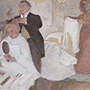 Hermann-Paul, Georges Rene ~ Jeune femme a sa coiffure
