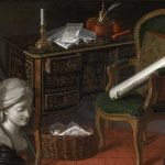 Jeaurat de Bertry, Nicolas Henry ~ One Of A Pair Of Devants-de Cheminée: A Writing Desk