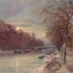 Vogler, Paul ~ Banks of the Seine in the Snow