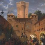 Turpin de Crissé, Count Lancelot-Theodore ~ Crusaders Departing from the Castle of Wuflens, near the Lake of Geneva