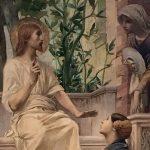 Merson, Luc-Olivier ~ Le Christ devant Marthe et Marie