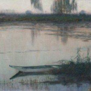Harrison, Alexander ~ Barque sur l'étang