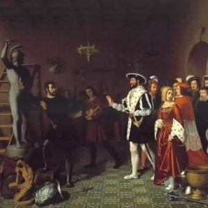 Grisée, Louis-Joseph ~ François I Visiting Benvenuto Cellini At The Castle Of Nesle