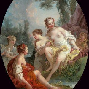 Le Mettay, Pierre-Charles ~ La Toilette de Vénus (One of a pair)
