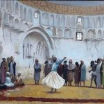 Gérôme, Jean-Léon ~ Le derviche tourneur (sketch for the Whirling Dervish),