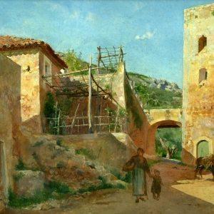 Meissonier, Jean-Ernest-Louis ~ Street Scene Near Antibes