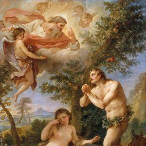 Natoire, Charles Joseph ~ The Expulsion from Paradise