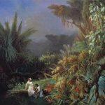 Blanchard, Henri-Pierre-Léon-Pharamond ~ Tropical Landscape with Paul and Virginia