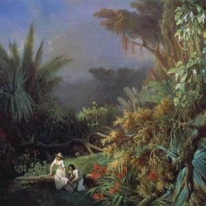 Blanchard, Henri-Pierre-Léon-Pharamond ~ Tropical Landscape with Paul and Virginia