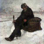 Raffaelli, Jean-François ~ Un Philosophe (Cheminot dans la neige)