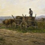 Delpy, Hippolyte-Camille ~ Vendanges nivernaise, effet du matin, (Harvest in the vineyards of Sancerre, in morning light)