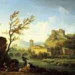 Vernet, Claude-Joseph ~ An Italianate River Landscape