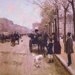 Béraud, Jean ~ Carriages On The Champs-Élysées