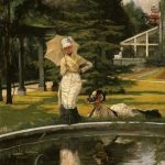 Tissot, James Jacques Joseph ~ Reflections: Summer In The Garden At Grove End Road