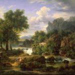 Michallon, Achille Etna ~ Roman Shepherds Contemplating The Ruins Of A Tomb