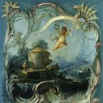 Boucher, François ~  The Enchanted Home : A Pastoral Landscape with Cupid's tribute to Mme de Tencin
