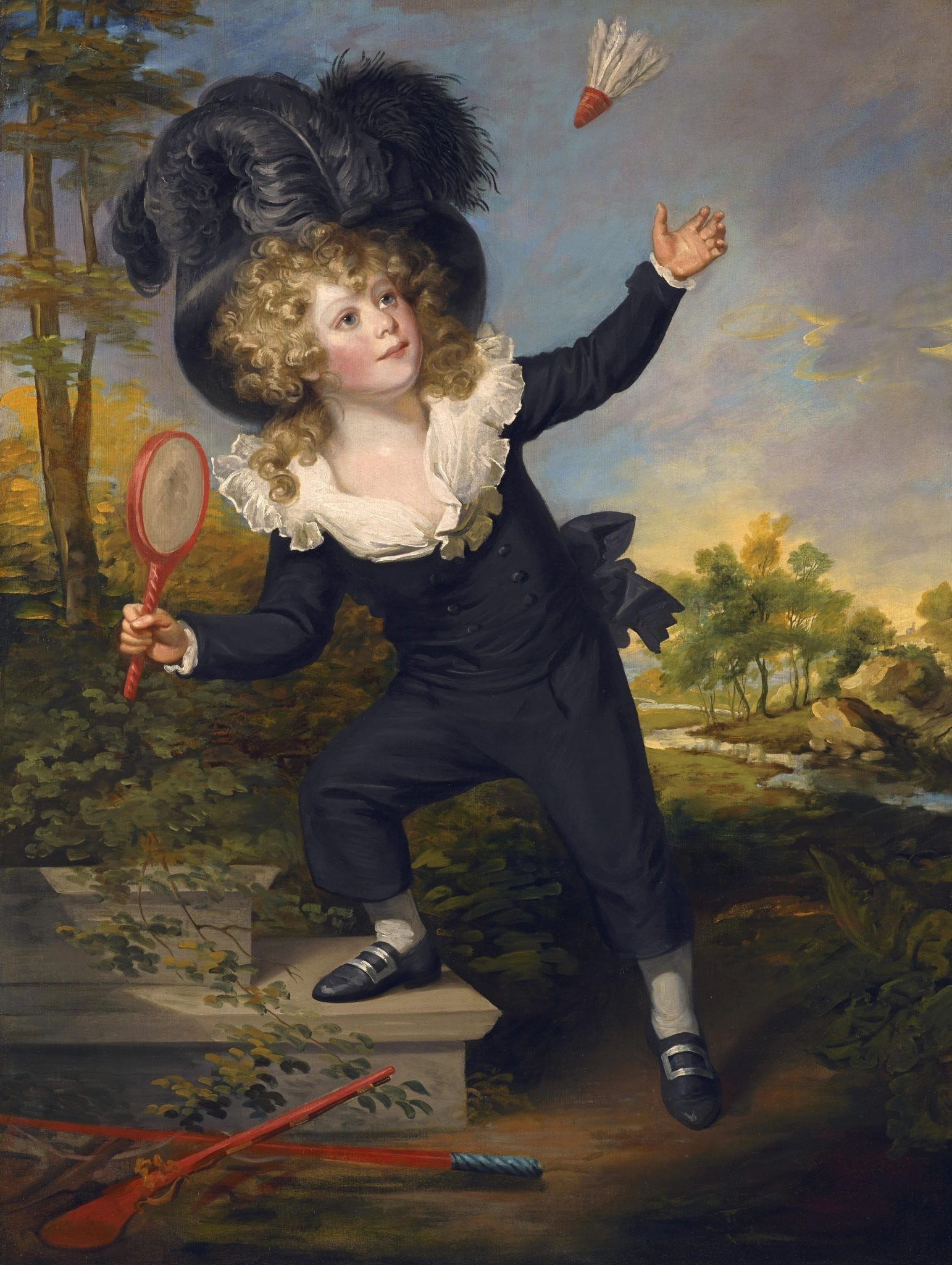 Beechey, Sir William ~ Kenneth Dixon playing shuttlecock