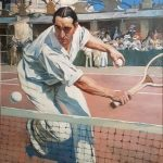 Flameng, François ~ The French tennis champion, Max Decugis (1882-1978)