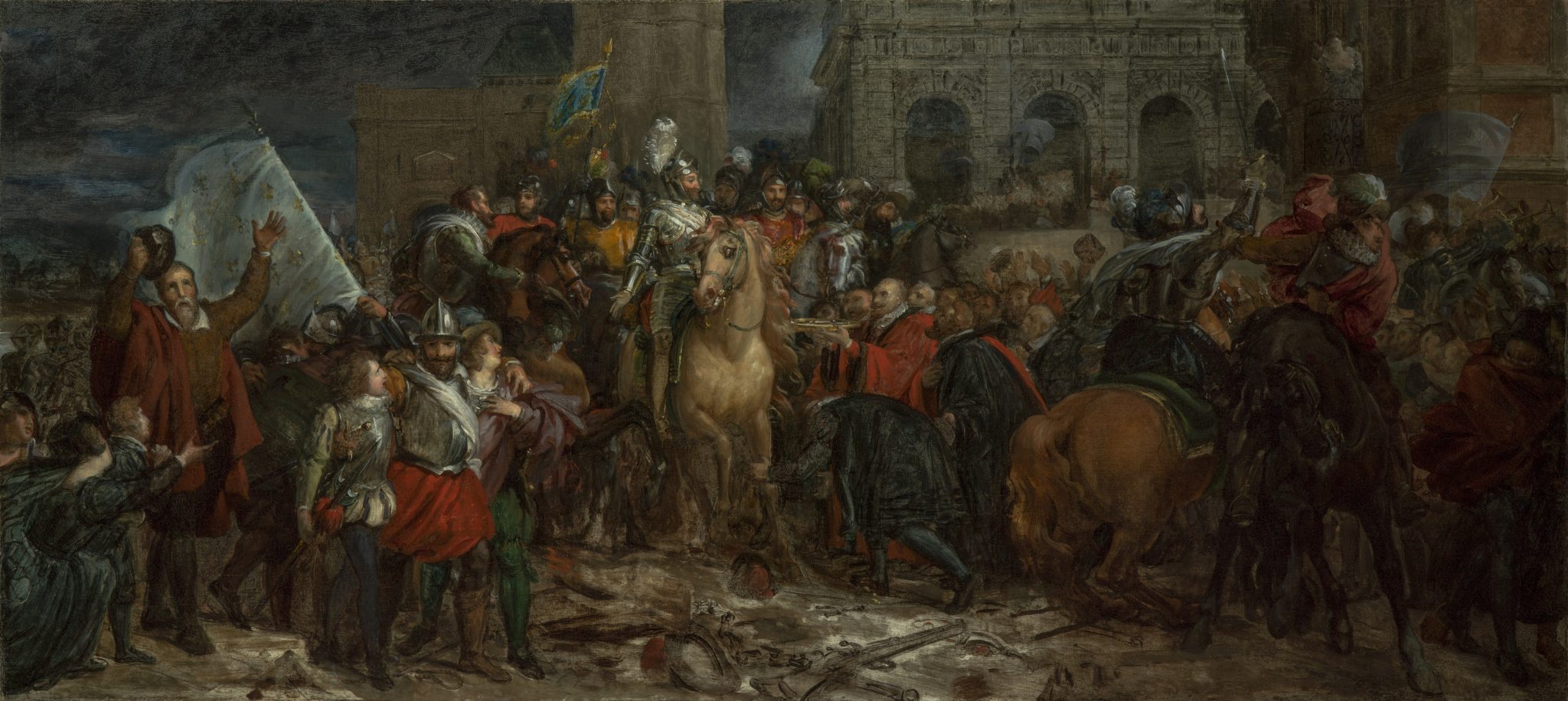 Gérard, Baron François ~ L'entrée d'Henri IV dans Paris, 22 mars 1594, (The entry of Henri IV into Paris, 22 March 1594)