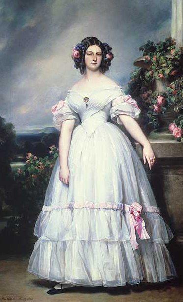Portrait Of HRH Princess Clementine Of Orléans (1817-1907)
