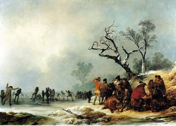 Loutherbourg, Jacques Philippe de ~ A Winter Morning, with a Party Skating