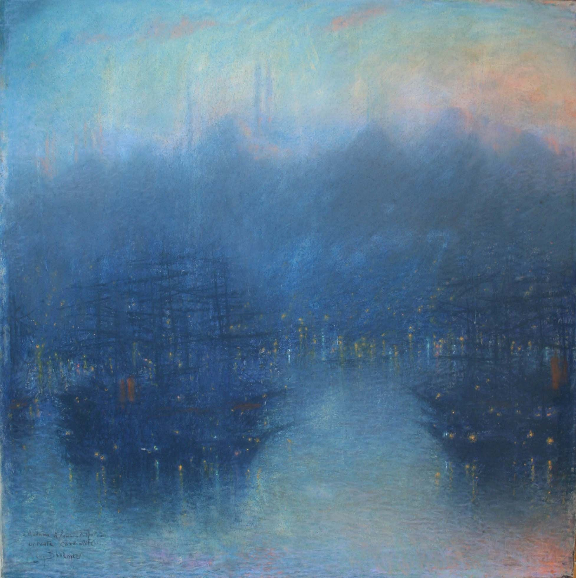 Lévy-Dhurmer, Lucien ~ Constantinople (the Harbor, Evening)