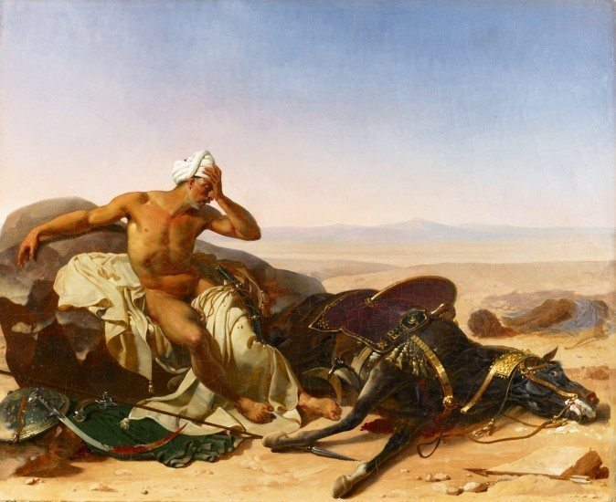 L'Arabe pleurant son coursier (The Arab Lamenting the Death of his Steed)