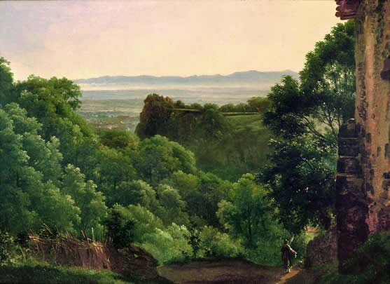 Michallon, Achille Etna ~ Landscape Near Cava (formerly Described as Being Auvergne)