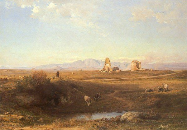 Benouville, Jean-Achille ~ The Campagna At Lungezza Near Rome
