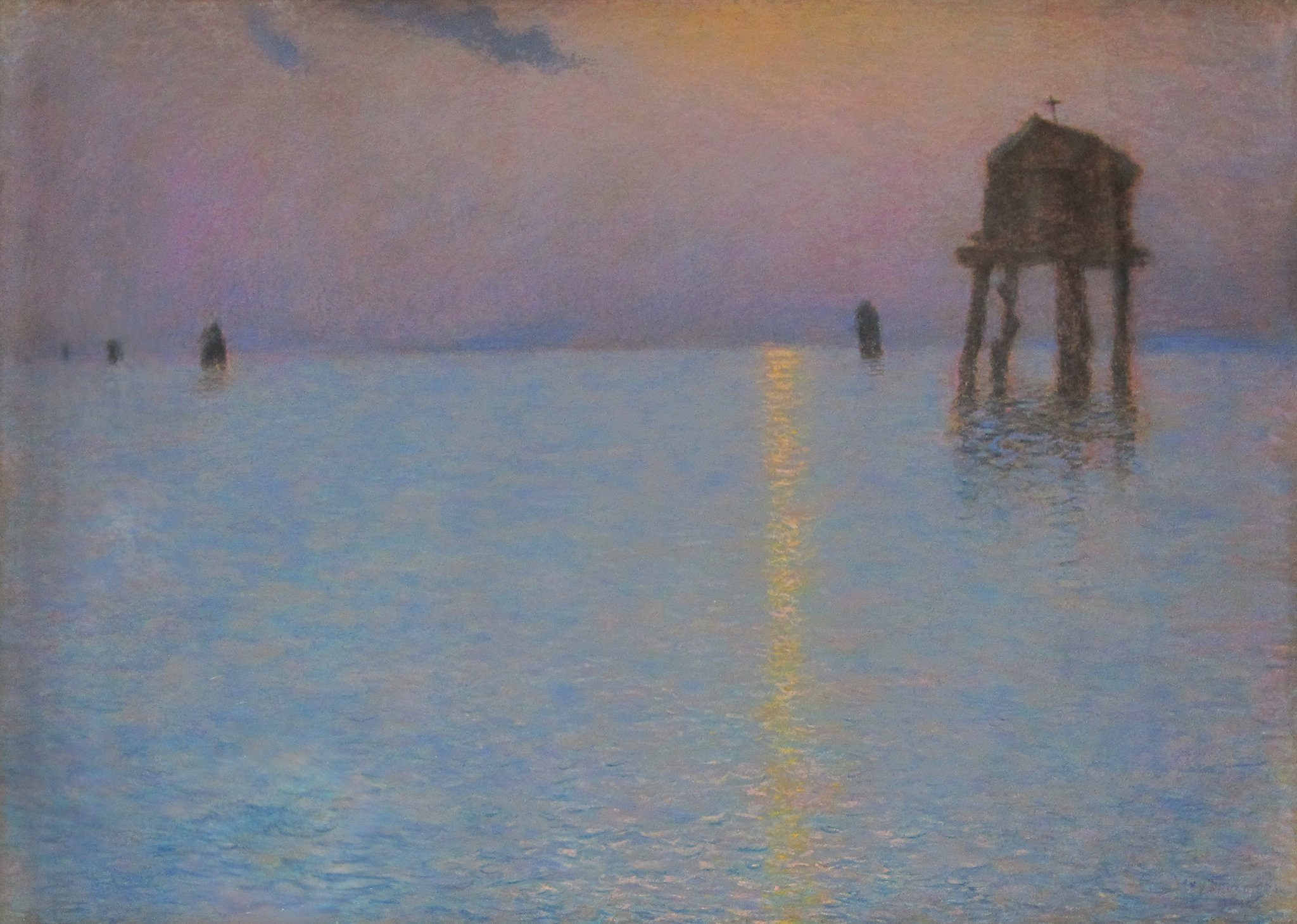 Lévy-Dhurmer, Lucien ~ Venice, View of the Lagoon at Dusk