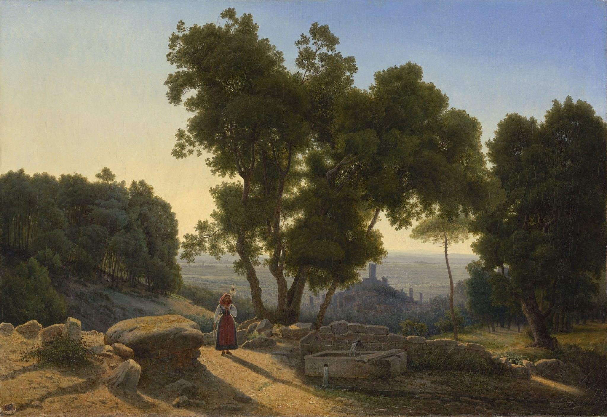 Perrot, Antoine Marie ~ View outside Florence