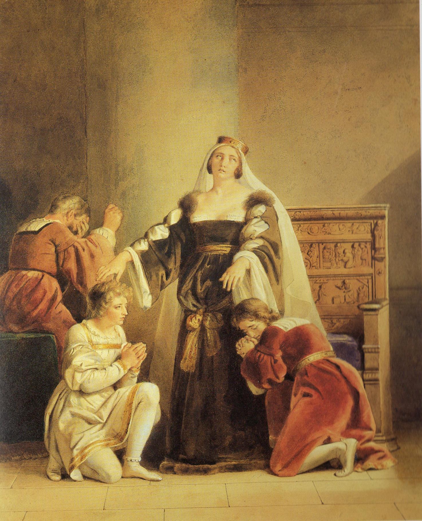 Fragonard, Alexandre-Evariste ~ Elizabeth Wydeville bidding farewell to her sons