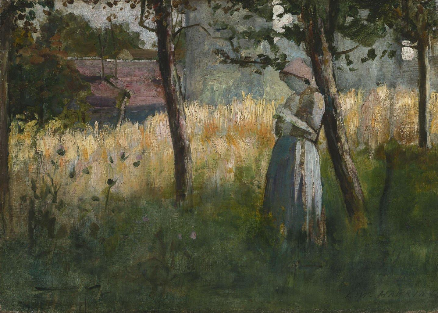 Hawkins, Louis Welden ~ Jeune Femme Adossée à un Arbre