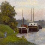 Dubois-Pillet, Albert ~ Chalands sur la Seine