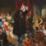 Devéria, Eugène François Marie Joseph ~ Replique de la Naissance d'Henri IV