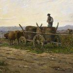 Delpy, Hippolyte-Camille ~ Vendanges nivernaise, effet du matin, (Harvest in the vineyards of Sancerre, in morning light)