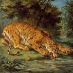 Delacroix, Eugène ~ A Tiger Drinking