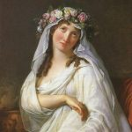 David, Jacques Louis ~ A Vestal Virgin Crowned With Flowers