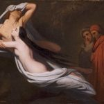 Scheffer, Ary ~ Les ombres de Francesca da Rimini et de Paolo Malatesta apparaissent à Dante et à Virgile
